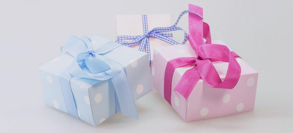 Geschenke von mini-mus Babygeschäft, schön verpackt