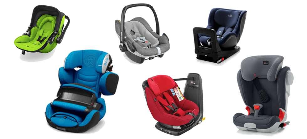 Kindersitze Auswahl vom Babygeschäft